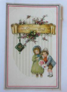 Kinder, Mode, Biedermeier, Brief, Blumen, 1916  ♥ (80078)