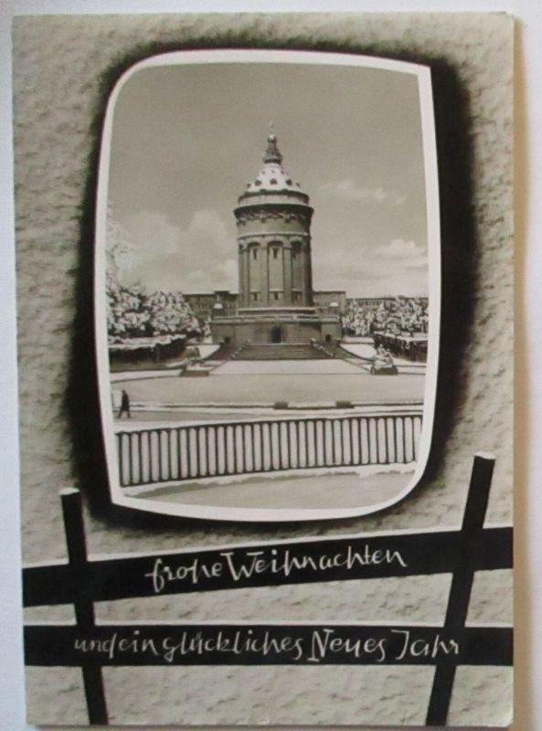 Mannheim Wasserturm, Frohe Weihnachten Glückliches Neujahr (32383)