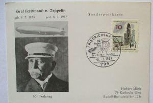 Zeppelin Sonderkarte 1967 (27897)