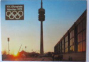 Olympia München 1972, offizielle Sonderkarte Olympiaturm, SST (19767)