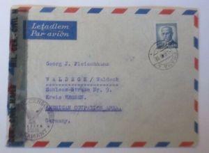 Tschechoslowakei Zensur mit Notstempel  Prag - Waldeck  Hessen 1946 ♥ (72522)