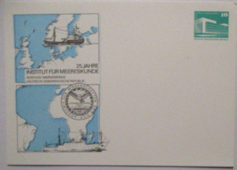 Meeresforschung Meereskunde DDR Privatganzsache 1981 (71932)