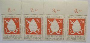 Bund Nr. 199 St.Bonifatius Viererstreifen postfrisch (60933)
