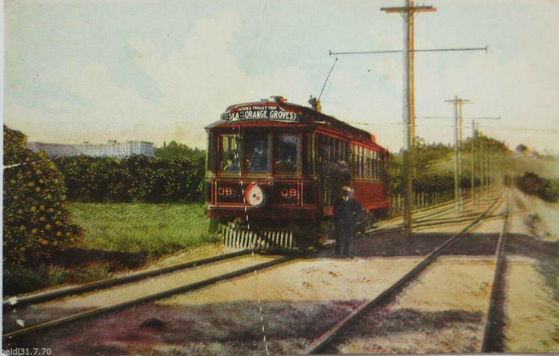 USA, Orange County, Oak Knoll, Tilton´s Trolley Trip, ca. 1910 (9719)