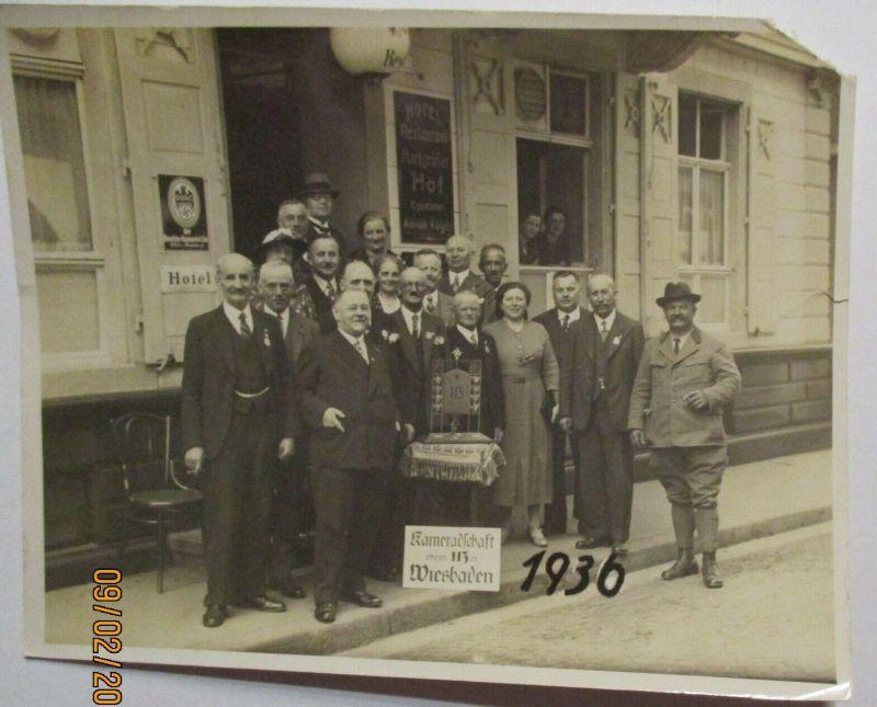 Wiesbaden Kameradschaft Restaurant Hotel Markgräfler Hof original Foto (32691)
