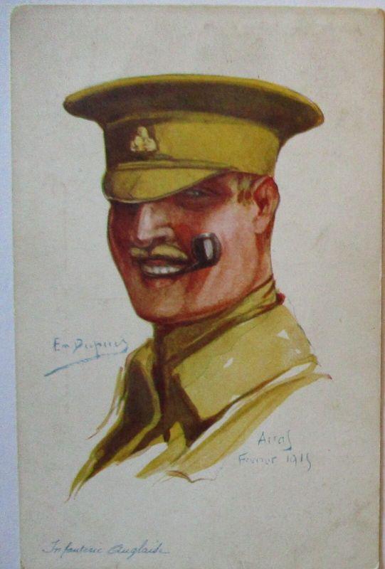 Soldat Großbritannien Arras 1915, sign. Dupuis (27087)