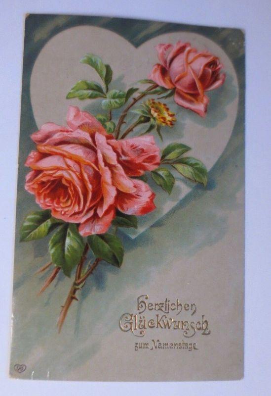 Namenstag, Herz, Rosen,     1909 ♥ (36661)