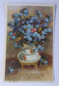 Namenstag, Vase, Vergissmeinnicht,    1910 ♥ (36111)