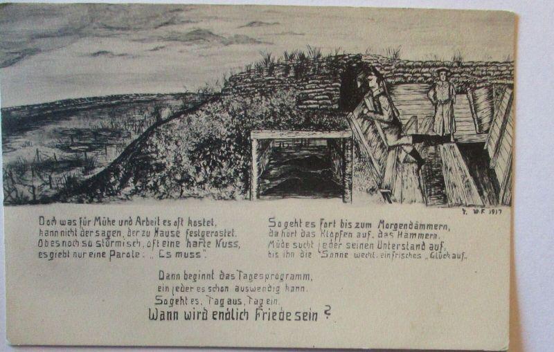 Wann wird endlich Friede sein, Feldskizze Verlag Stengel Dresden (10152)