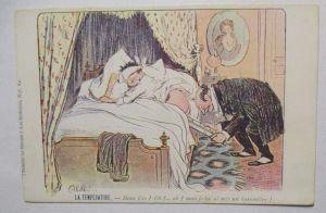 Scherzkarte Medizin, La Temperature, Frankreich ca. 1900 (9151)