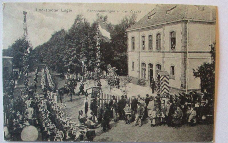 Lockstedter Lager, Fahnenabbringen an der Wache 1916 (3323)