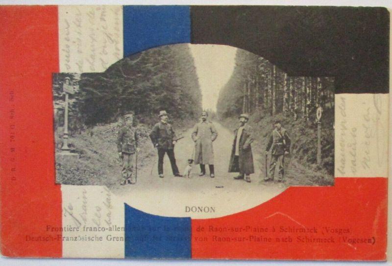 Deutschland Frankreich Vogesen , Grenze am Donon 1905  (2331)