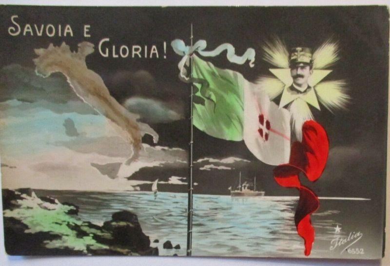 Italien Fahne und König , Savoia e Gloria  (2330)