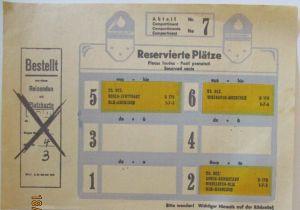 Eisenbahn Platzkarte Reservierte Plätze Köln Stuttgart, Deutsche Bahn  (67353)