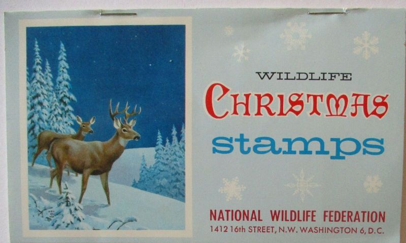 USA Weihnachten Christmas stamps National Wildlife Markenheftchen xx 1958 (247)