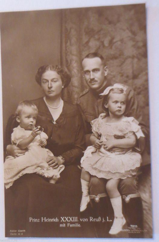 Reuß jüngere Linie, Prinz Heinrich XXXIII. mit Familie (32079)