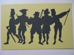 Scherenschnitt, Schattenbild, Paul Konewka, Handwerksburschen (29114)