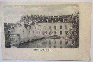 Frankreich Mühle an der Suippe Feldpost IR 177 nach Großdrebnitz (26398)