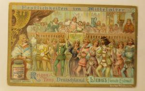 Liebig  Serie 528, Festlichkeiten im Mittelalter, Reigen Tanz  ♥ (11825)