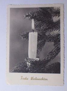 Weihnachten, Kerzen, Tannenzweig,  1959 ♥  (62818)