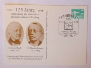 DDR Privatganzsache Ferdinand Reich H. Theodor Richter Wissenschaft 1988♥(72619)
