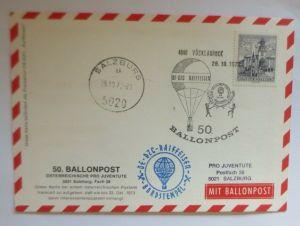 Österreich  50. Ballonpostflug  1979 Pro Juventute Salzburg  ♥ (51195)