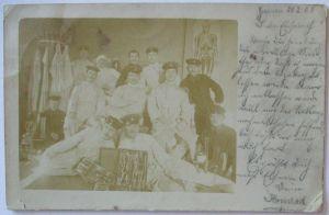 Giessen Soldaten Medizin Ausbildung Chirurg. Instrumente Fotokarte 1903 (69724)