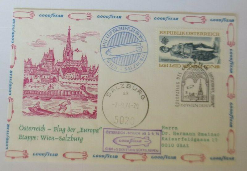 Österreich  Zeppelin-Post  Wien-Salzburg  SOS-Kinderdorf 1974  ♥ (22654)
