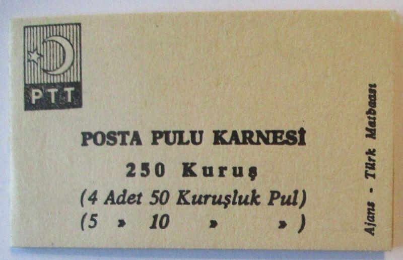 Türkei Markenheftchen 1 von 1967 postfrisch (19971)