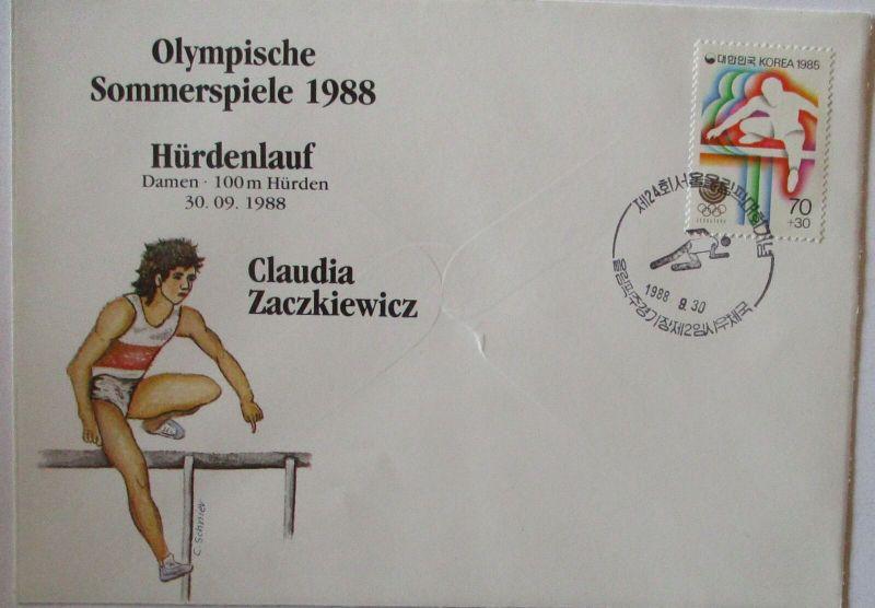 Olympia 1988 Hürdenlauf Claudia Zaczkiewicz (57434)