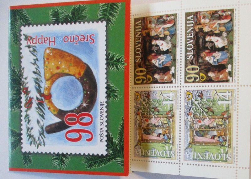 Slowenien Markenheftchen Weihnachten 1997 postfrisch (18887)