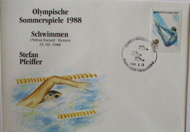Olympia 1988 Schwimmen Stefan Pfeiffer (48890)