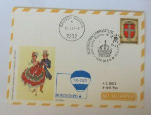 Österreich, 16. Ballonpostflug 1977 Pro Juventute  Salzburg  ♥ (68792)