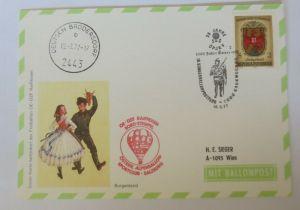 Österreich, 16. Ballonpostflug 1977 Pro Juventute  Salzburg  ♥ (68791)