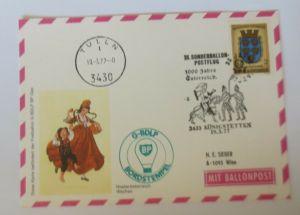 Österreich, 16. Ballonpostflug 1977 Pro Juventute  Salzburg  ♥ (35347)