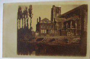 Westen, zerstörte Kirche, Fotokarte mit Ortsangabe (32296)