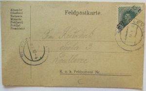 Tschechoslowakei Franco-Halbierung 1919 auf Bedarfskarte (33983)