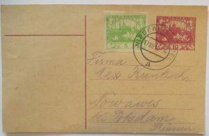 Tschechoslowakei Ganzsache 1919 aus Nieder-Einsiedel Dolní Poustevna (33982)