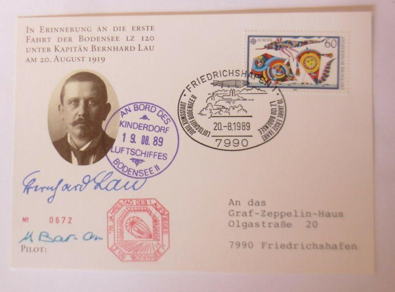 Zeppelin Fahrt der Bodensee LZ 120 Unter Kapitän Bernhard Lau  1989 ♥  (46557)