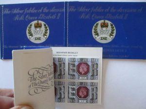 Großbritannien Silver Jubilee Queen Elisabeth 1977, 3 xx Markenheftchen (33999)