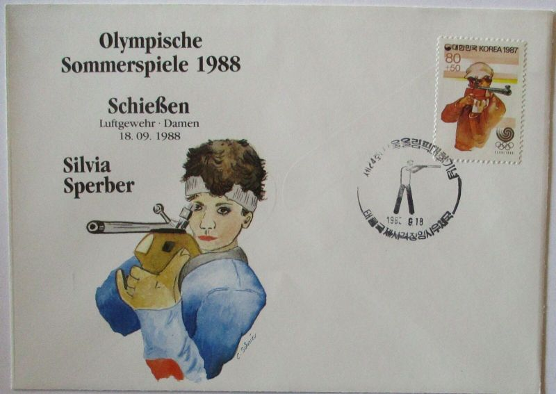 Olympia 1988 Schießen Silvia Sperber (25204)
