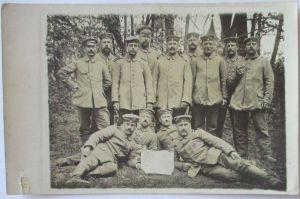 Deutsche Soldaten 1915 in Dehme, Fotokarte mit Text (21321)