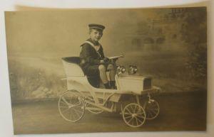 Fotokarte, Kinder, Mode, Matrose,  Spielzeug Auto, 1900 ♥ (47239)
