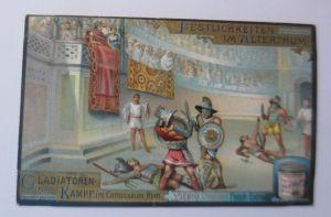 Liebig, Serie 449, Festlichkeiten im Alterthum, Cladiatoren ♥ (5434)