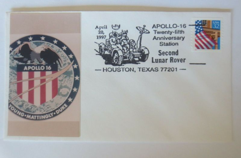 Weltraum USA NASA  Young Mattingly Duke Sonderstempel  Apollo 16. 1997 ♥ (55792)