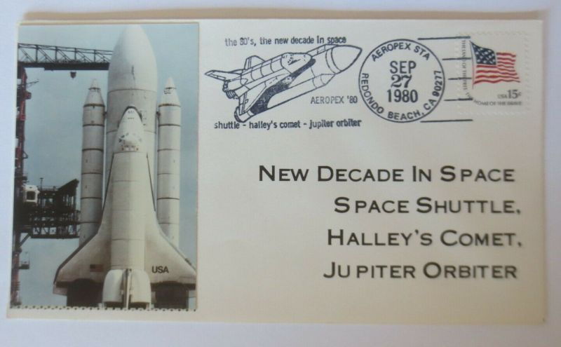 Weltraum USA NASA Space Shuttle Halley´s Comet Jupiter Orbiter 1980 ♥ (42866)