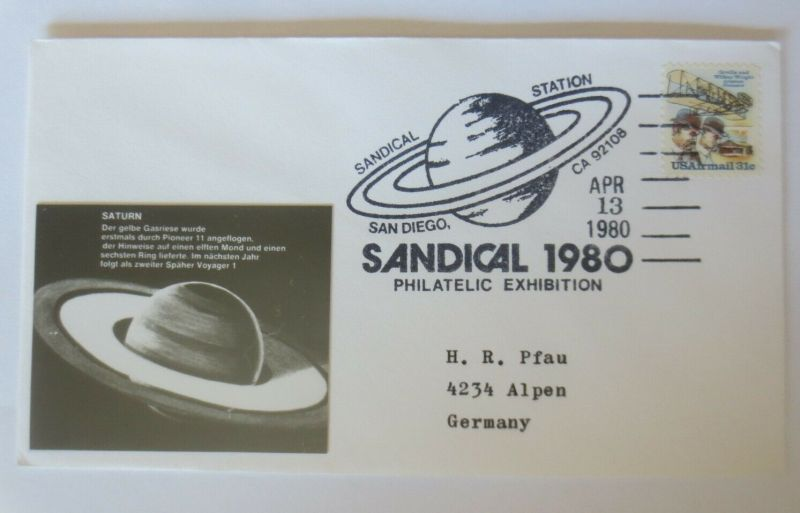 Weltraum USA NASA Saturn Sandical 1980 Philatelic Exhibition ♥ (33537)