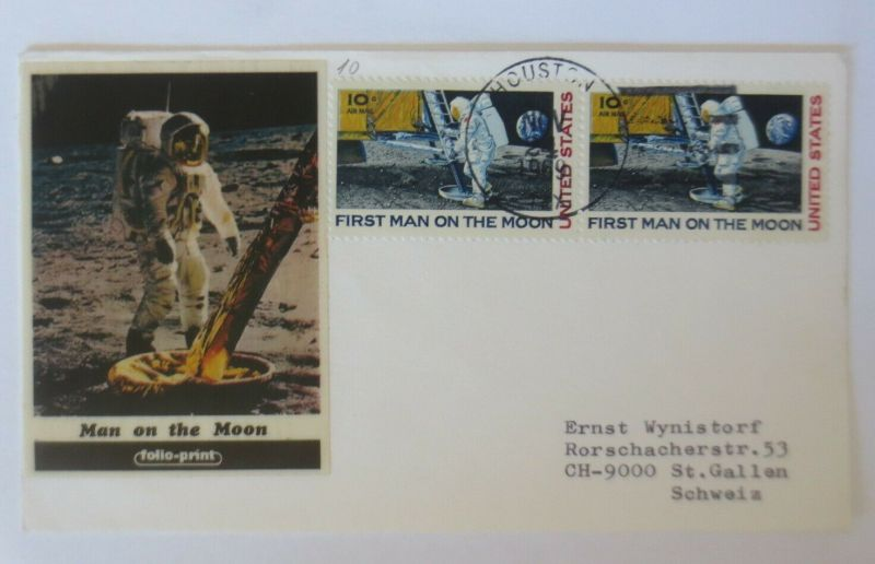 Weltraum USA NASA First Man on the Moon Apollo 11 ♥  (5073)