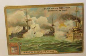 Liebig Serie 523,  Bilder aus dem Seemanöver Kriegsschiffe im Kampf  ♥ (35445)