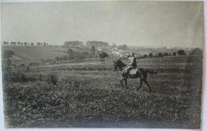 Deutscher offizier zu Pferd, Fotokarte (69042)